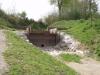 Barrage de creuse en bois